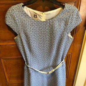 Anne Klein dress. Short sleeves with belt.